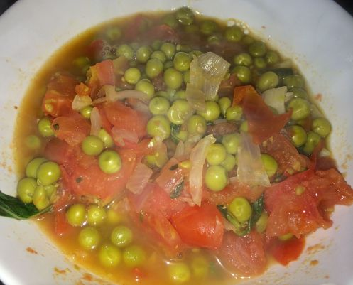 My bangin' Pea Soup in tomato broth. Day 2 of GM Diet.