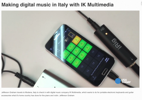 Making Music in Italy with IK Multimedia and USA Today's Jefferson Graham